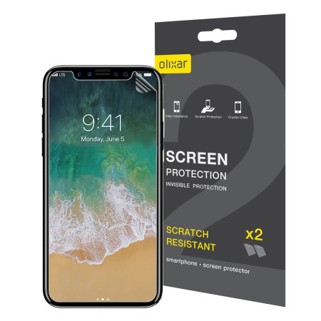 Olixar iPhone XS Max Film Screen Protector 2 pak