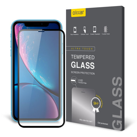 best sneakers 7b83c a8fe6 Olixar iPhone XR Full Cover Glass Screen Protector - Black