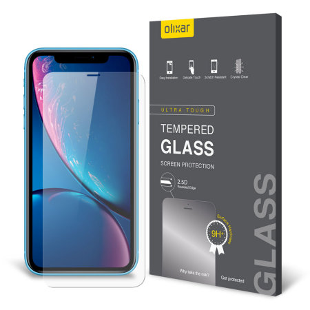 07076a02dc Olixar iPhone XR Case Compatible Glass Screen Protector