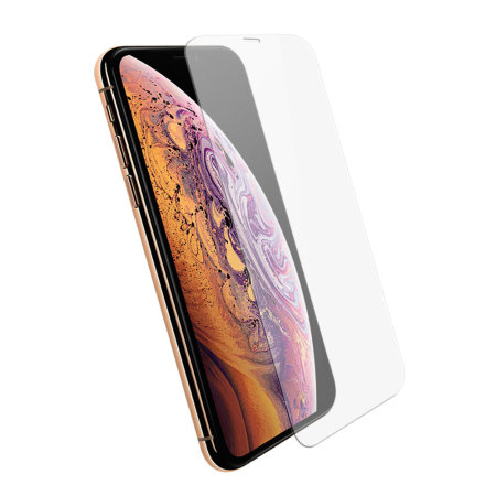 Olixar iPhone XS Max Case Compatible Tempered Glass Screen Protector