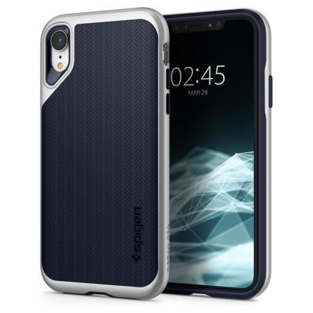 official photos b34a3 d42a6 Spigen Neo Hybrid iPhone XR Case - Satin Silver