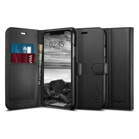 Housse iPhone XR Spigen Wallet S Portefeuille –Noire