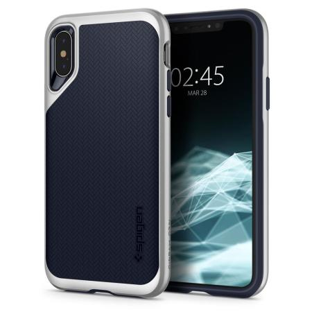 Spigen Neo Hybrid iPhone XS Case - Satin Silver