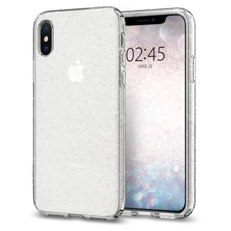 size 40 fd9d3 4ca85 Spigen Liquid Crystal Glitter iPhone XS Shell Case - Quartz