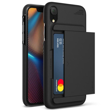 vrs design damda glide iphone xr case - charcoal black
