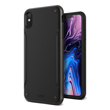Funda iPhone XS Max VRS Design High Pro Shield - Negra metálica