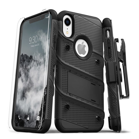 Zizo Bolt iPhone XR Tough Case & Screen Protector - Black