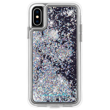 Coque iPhone XS Max Case-Mate Waterfall Glow Glitter – Diamant irisé