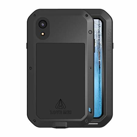 love mei powerful iphone xr protective case - black