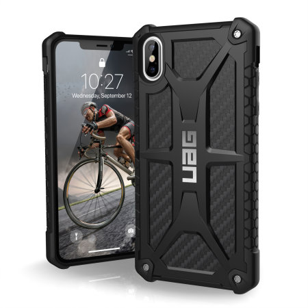 uag monarch premium iphone xs max protective case - carbon fibre reviews