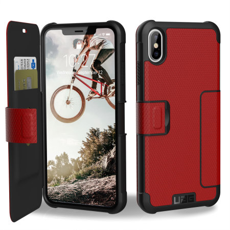 uag metropolis iphone xs max rugged wallet case - magma reviews