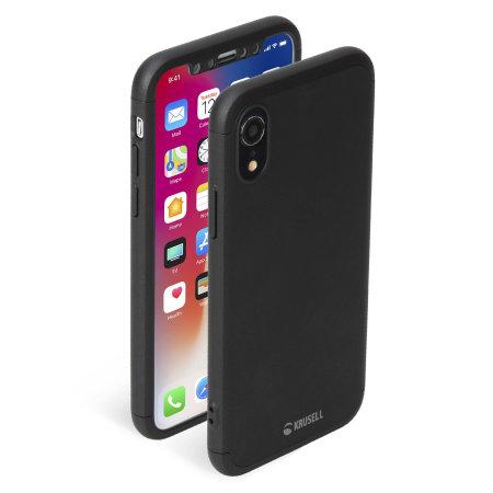 online retailer ed4d6 5761f Krusell Arvika 3.0 iPhone XR Full Cover Case - Black