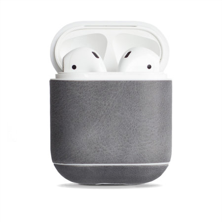 Krusell Sunne AirPod Genuine Leather Case - Grey