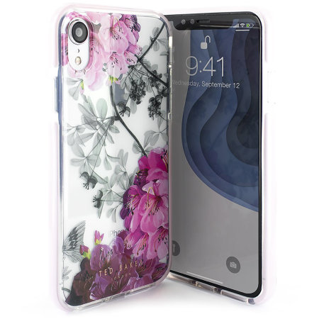Ted Baker Anti Shock iPhone XR Case - Babylon Nickel