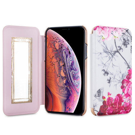 Ted Baker iPhone XS Spiegel Folio Hülle - Babylon