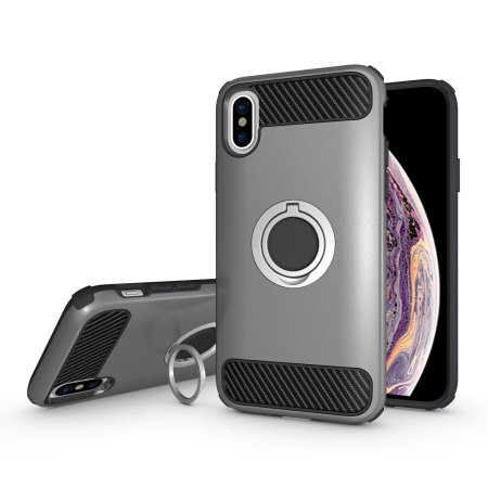 olixar armaring iphone xs finger loop tough case - silver reviews
