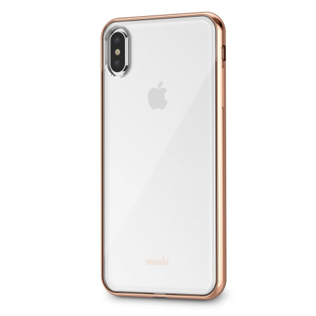 moshi vitros iphone xs max slim case - champagne gold