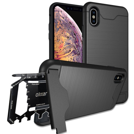 olixar x-ranger iphone xs tough case - tactical black