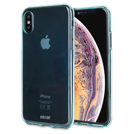olixar flexishield iphone xs gel case - blue
