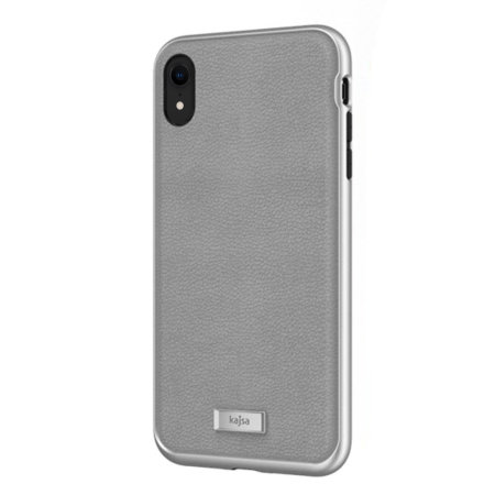 kajsa luxe collection iphone xr leather case - grey