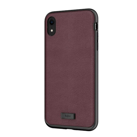 kajsa luxe collection iphone xr leather case - burgundy