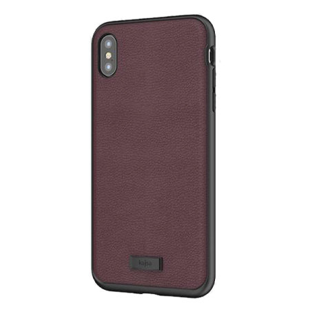 kajsa luxe collection iphone xs max leather case - burgundy