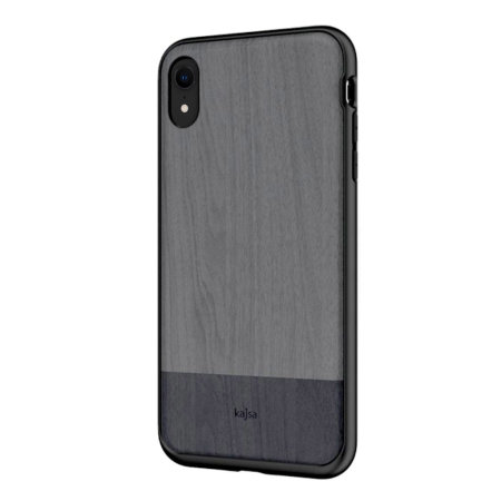 kajsa outdoor collection iphone xr wooden pattern case - grey