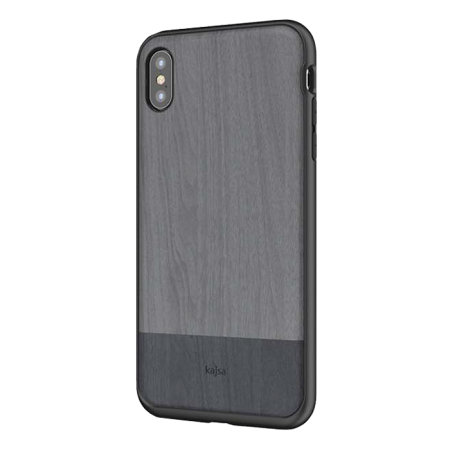 kajsa outdoor collection iphone xs max wooden pattern case - grey