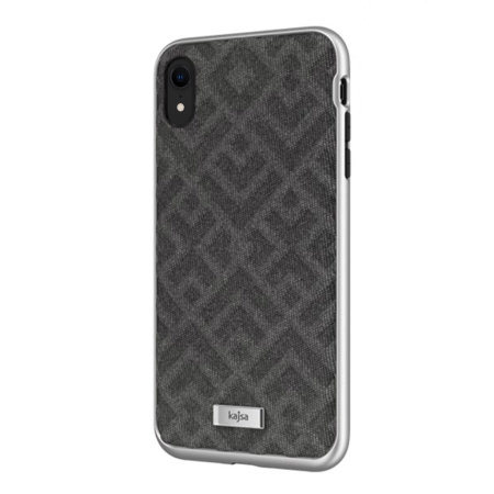 kajsa briquette collection rhombus iphone xr textured case - grey