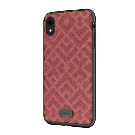 kajsa briquette collection rhombus iphone xr textured case - red