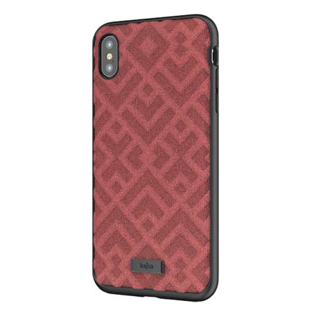 kajsa briquette collection rhombus iphone xs max textured case - red
