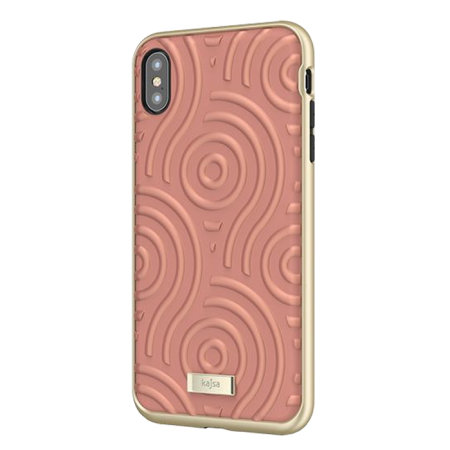 kajsa briquette collection sphere iphone xs max case - peach