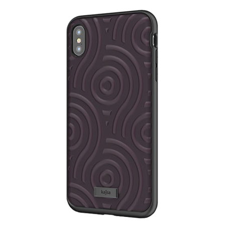 kajsa briquette collection sphere iphone xs max case - deep purple