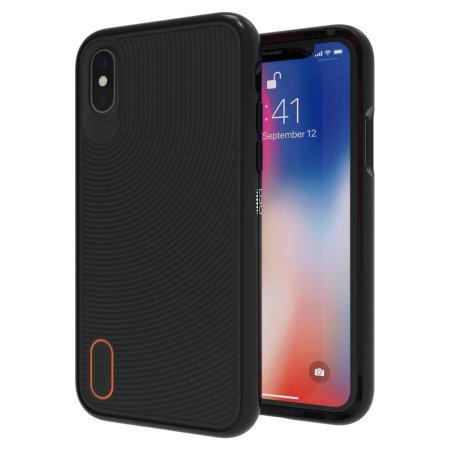 buy popular 1e6d8 f30fe GEAR4 Battersea iPhone XS Max Slim Soft Touch Case - Black