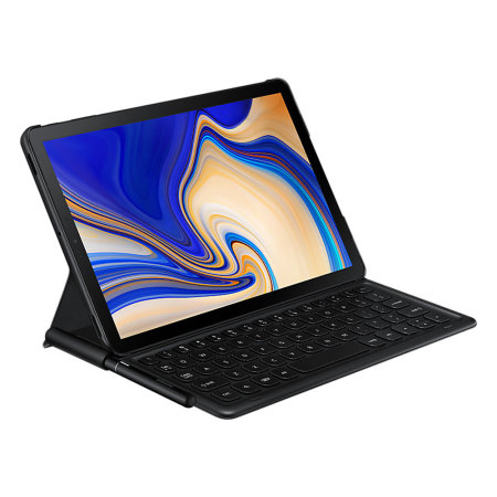 Official Samsung Galaxy Tab S4 UK QWERTY Keyboard Cover Case - Black