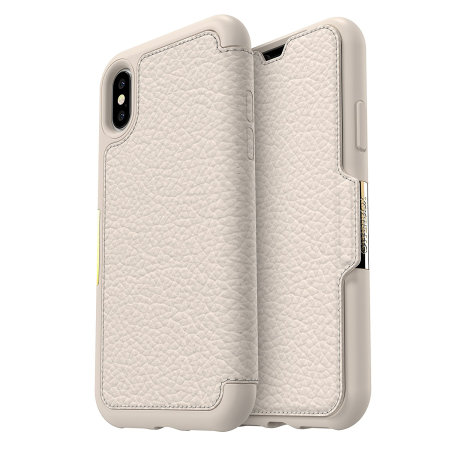 otterbox strada folio iphone xs leather wallet case - soft opal reviews
