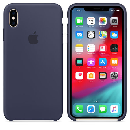 official apple iphone xs max silicone case - midnight blue reviews