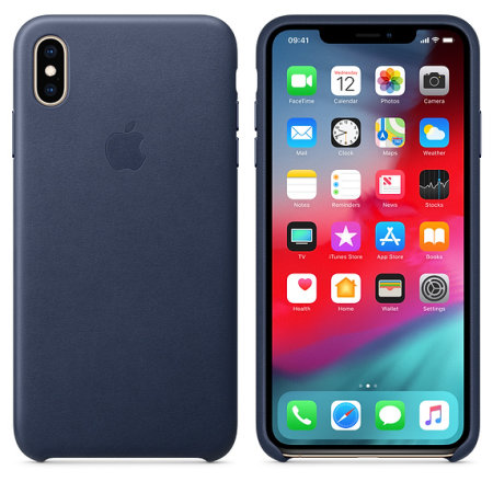 official apple iphone xs max leather case - midnight blue reviews