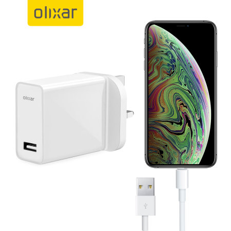 High Power iPhone XS Max Wall Charger & 1m Cable