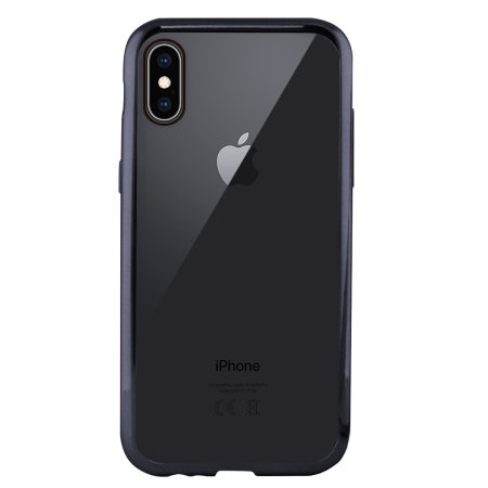 ksix metal flex iphone xs bumper case - grey