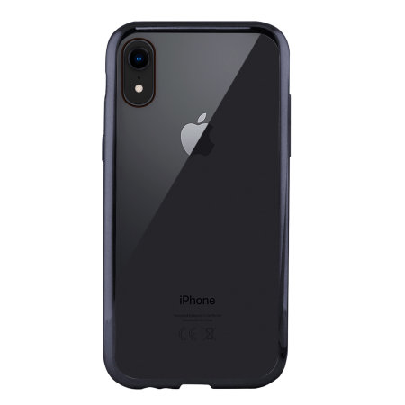 ksix metal flex iphone xr bumper case - grey