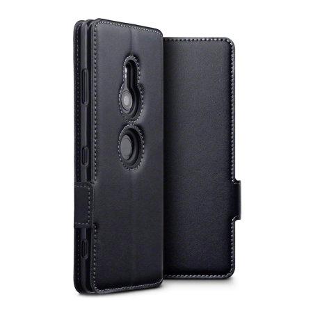 competitive price 0c100 da496 Olixar Sony Xperia XZ3 Genuine Leather Wallet Case - Black