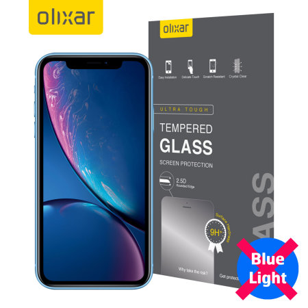 Olixar iPhone XR Anti-Blue Ray Tempered Glass Screen Protector