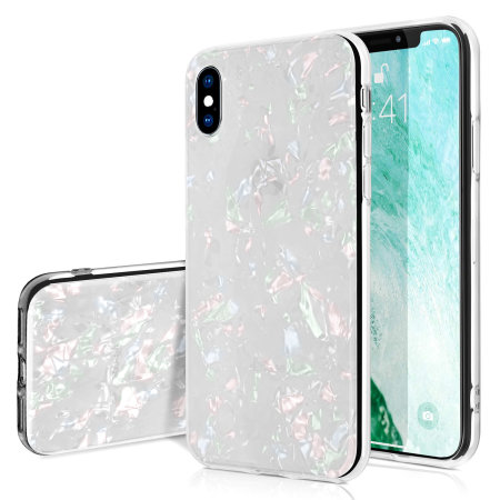olixar iphone xs max crystal shell case - white