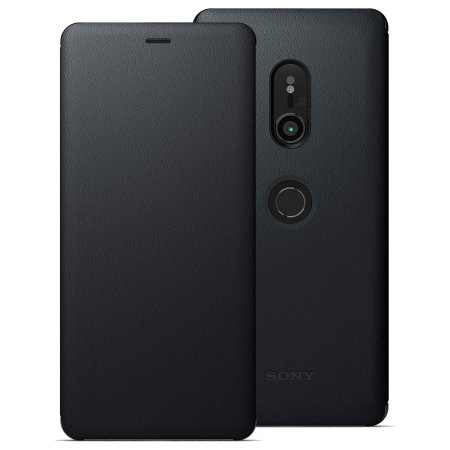 Official Sony Xperia XZ3 SCSH70 Style Cover Stand Case - Black