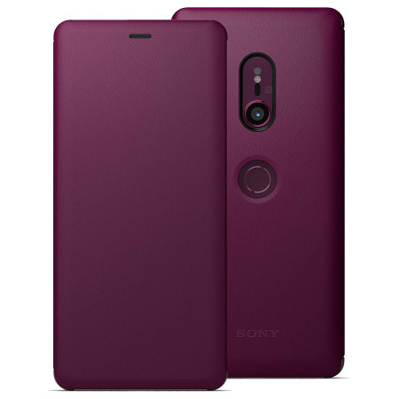 Official Sony Xperia XZ3 SCSH70 Style Cover Stand Case - Bordeaux Red