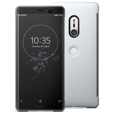 Funda Sony Xperia XZ3 Oficial SCTH70 Style Cover Touch - Gris