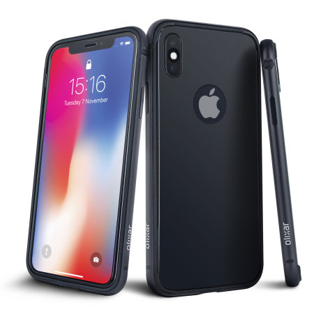 iphone xs case - olixar helix sleek 360 protection - space grey