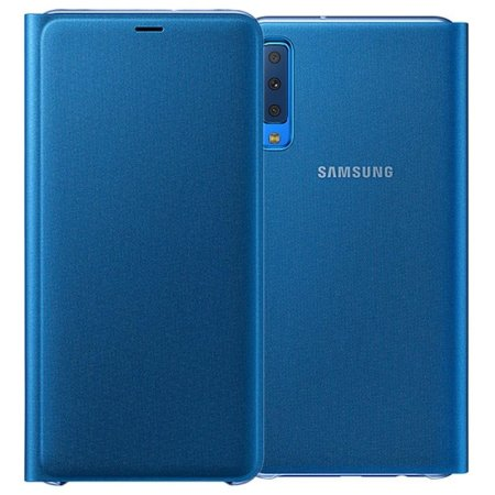 Official Samsung Galaxy A7 2018 Wallet Cover Case - Blauw