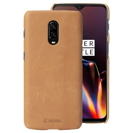 the latest 1b93a 0922b Krusell Sunne OnePlus 6T Leather Case - Vintage Nude